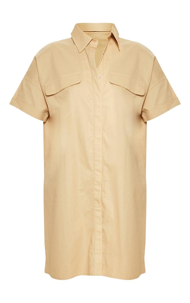 Stone Oversized Utility Shirt Dress 3