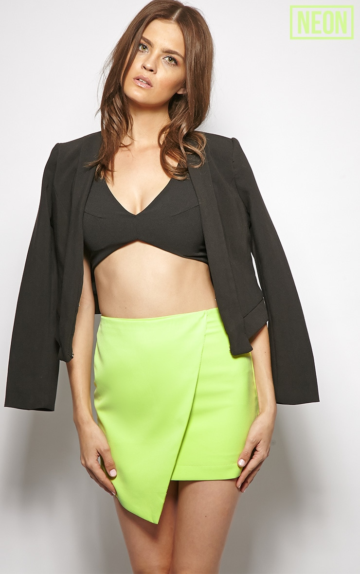 Leona Lime Asymmetric skirt 1