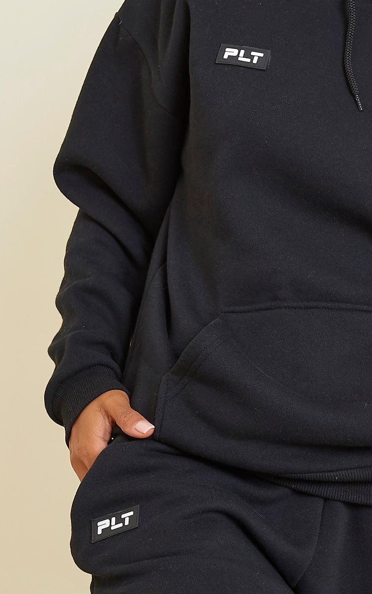 PRETTYLITTLETHING Black Badge Detail Oversized Hoodie 4