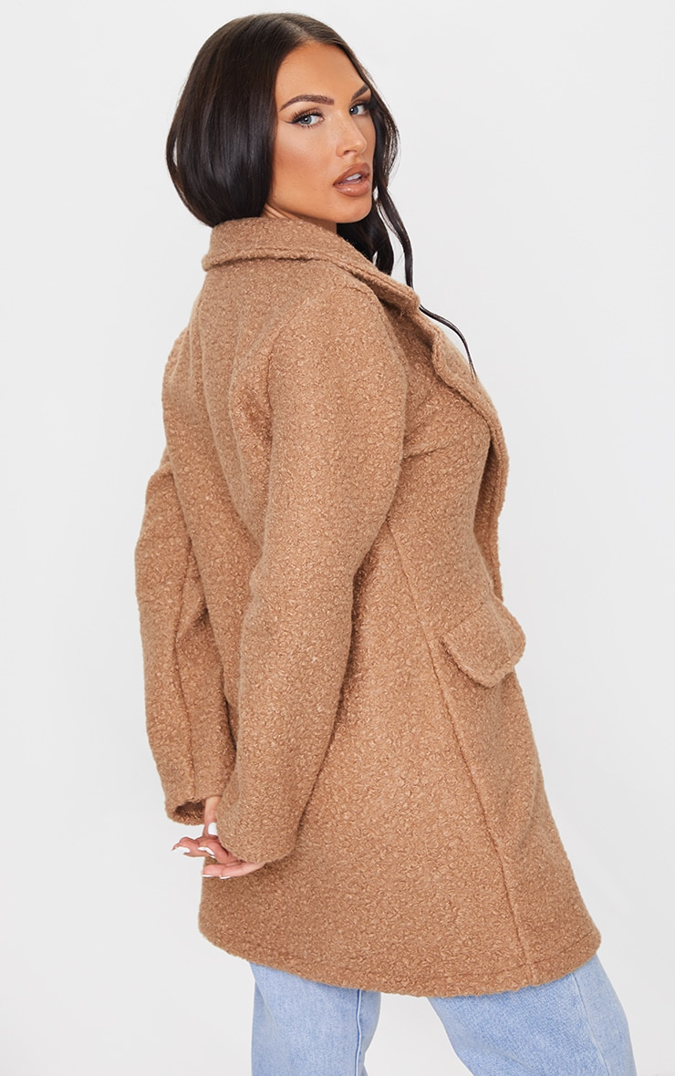 Camel Teddy Button Down Coat 2