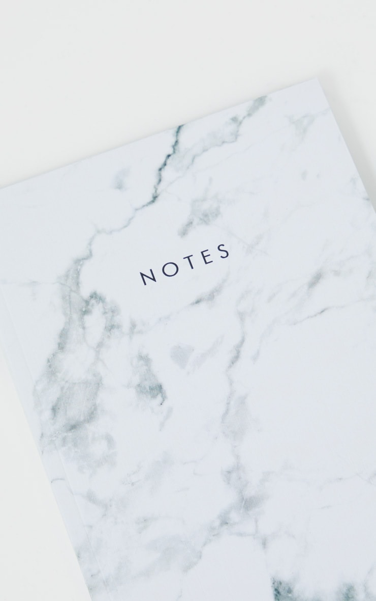 Central23 White Marble Notebook 2