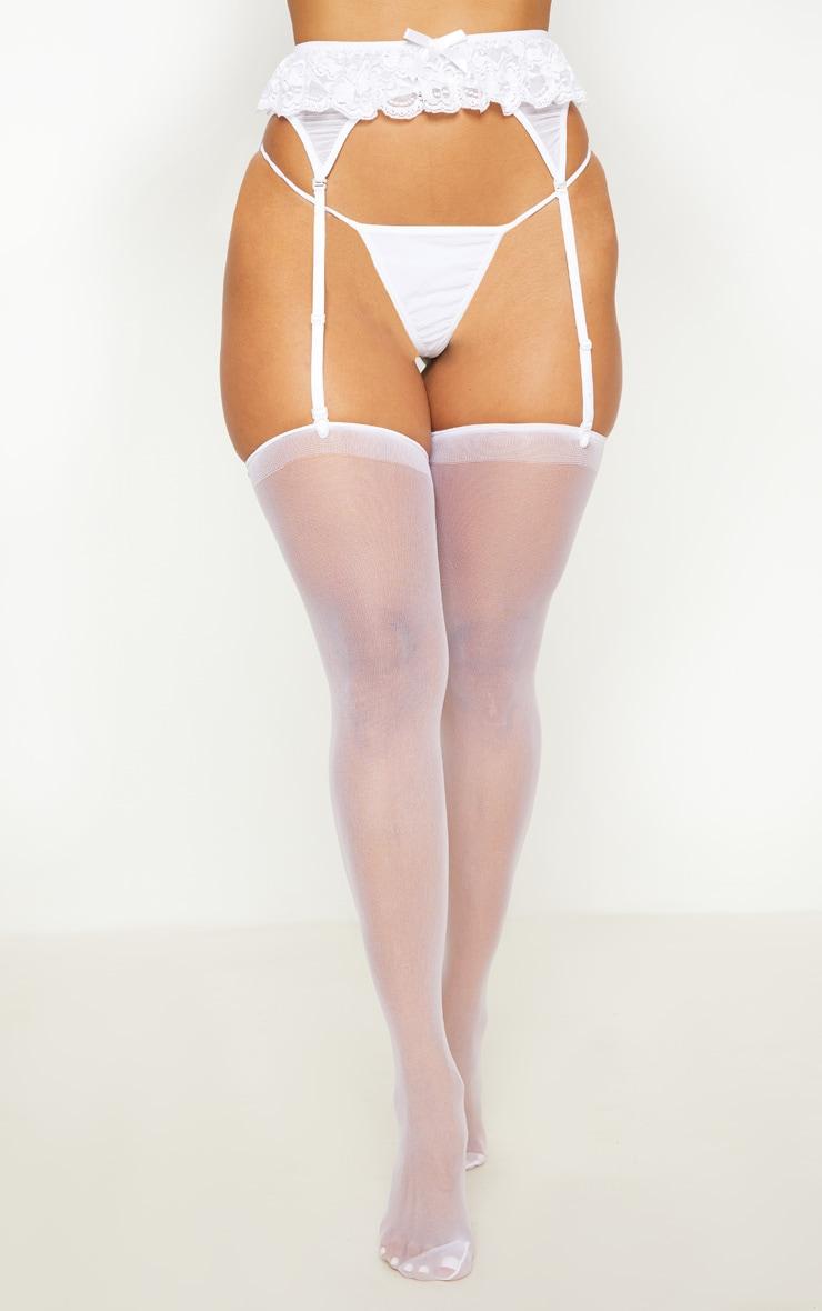 White Panties & Suspender Set 1