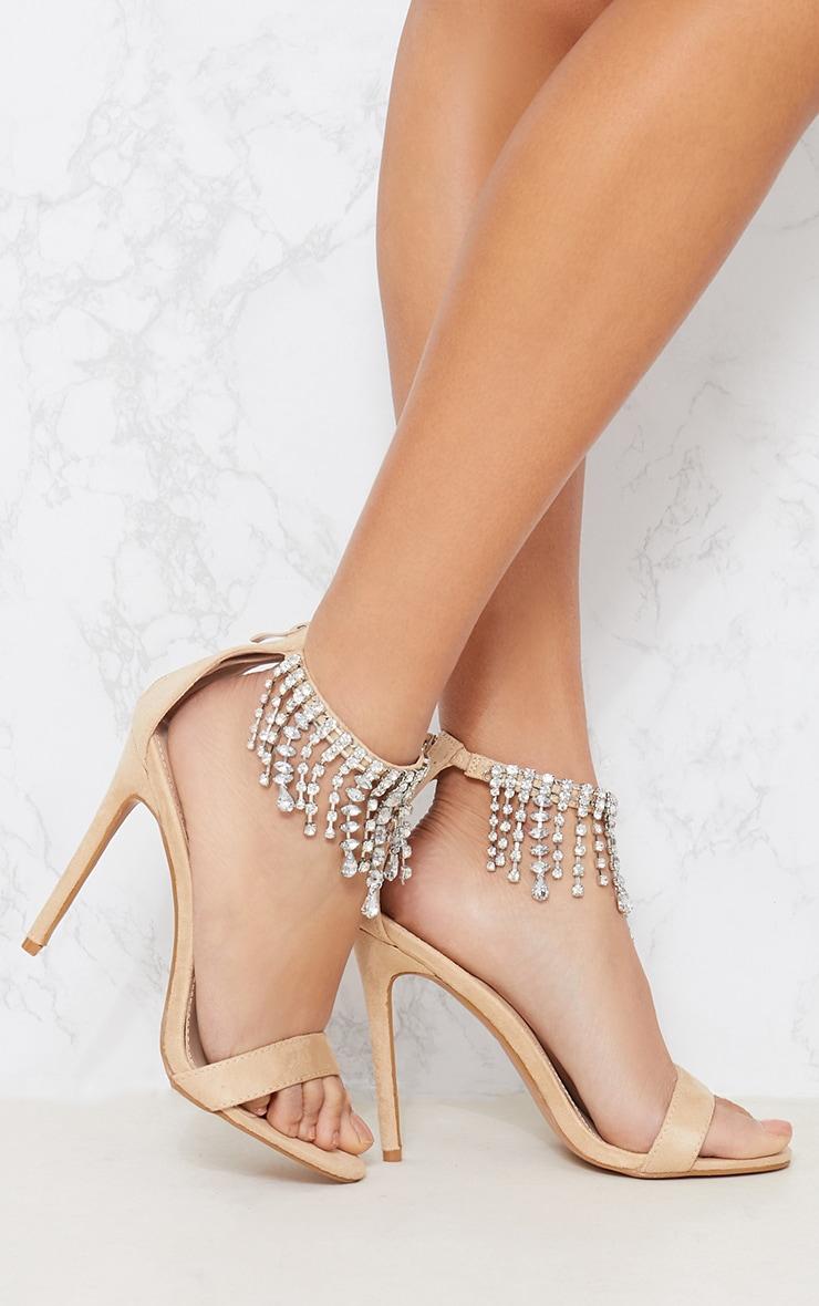 Nude Diamante Cuff Heeled Sandal Pretty Little Thing axPTJy