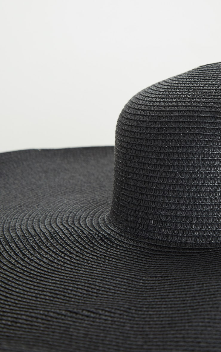 Black Extra Large Oversized Sun Hat 4