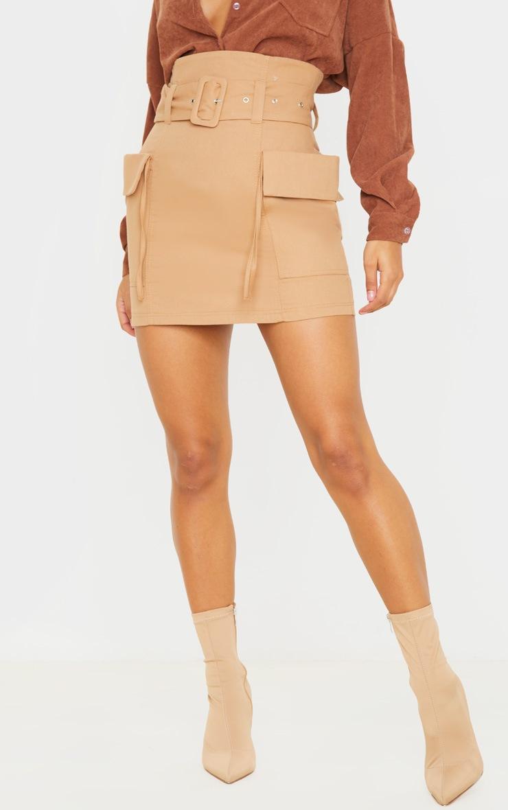 Stone Belted Pocket Detail Cargo Mini Skirt  2