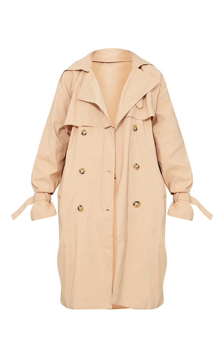 Camel Oversized Belted Midi Trench 5
