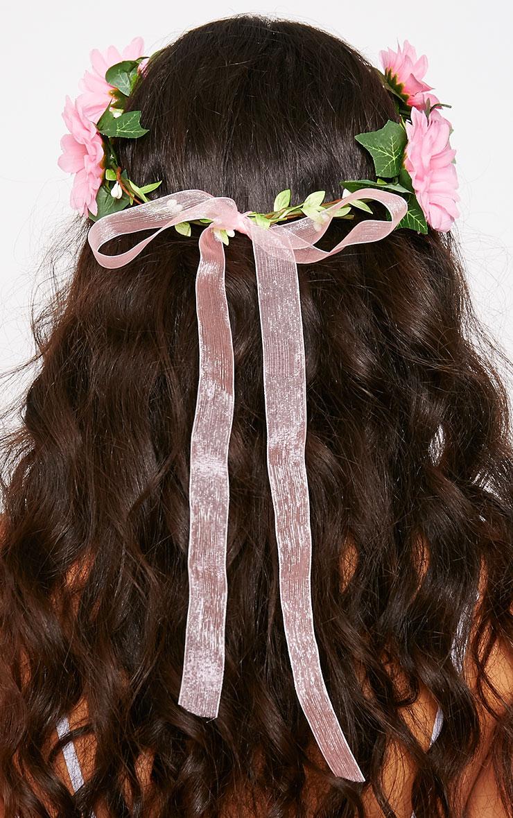 Jody Pink Daisy Hair Garland 3