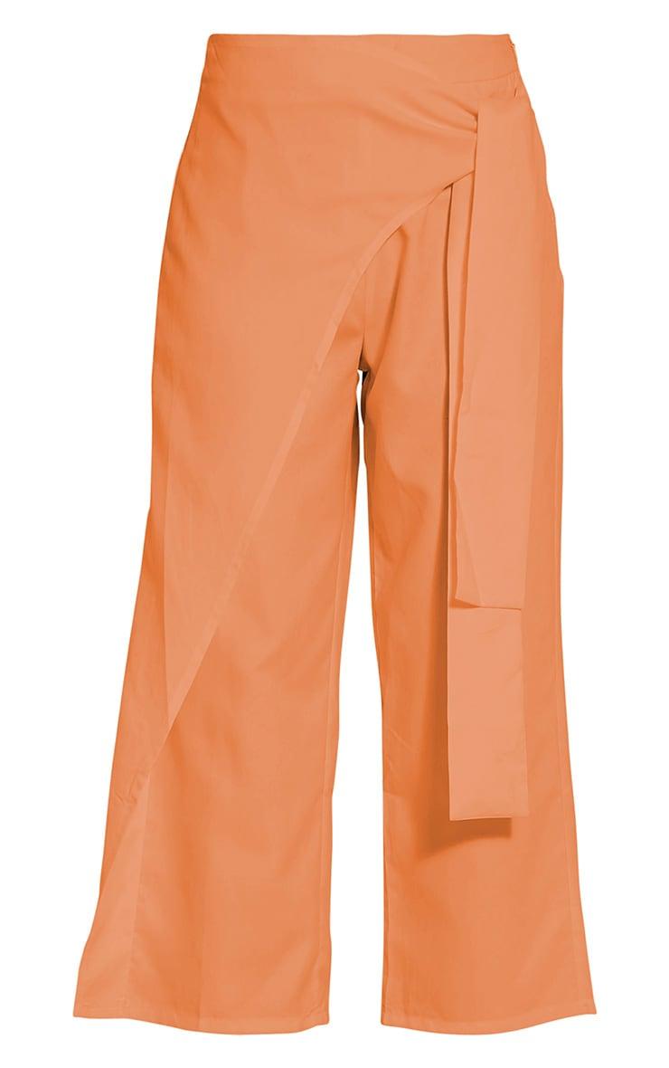 Shirley Pastel Orange Wrap Tie Culottes 2