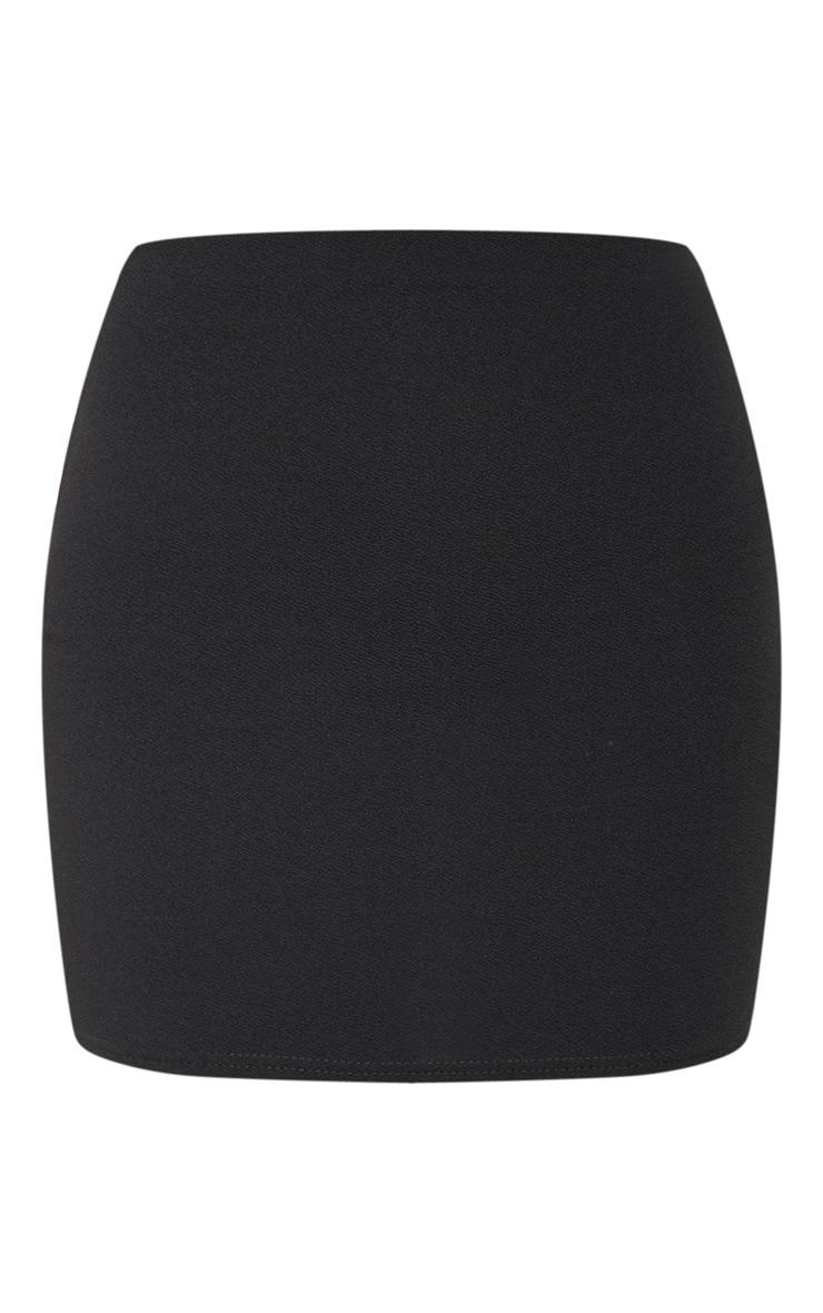 Mini-jupe noire style tailleur 3