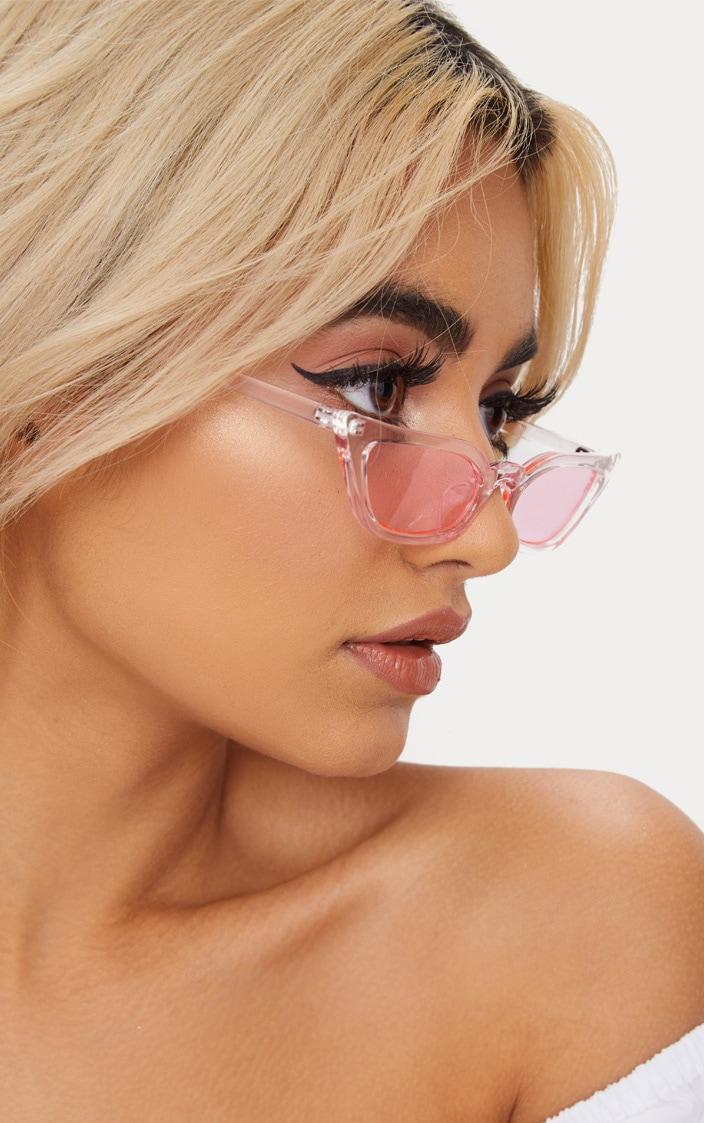 Pink Clear Cat Eye Sunglasses 2