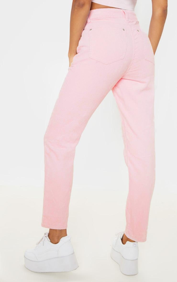 Pink Jumbo Cord Mom Jean 4