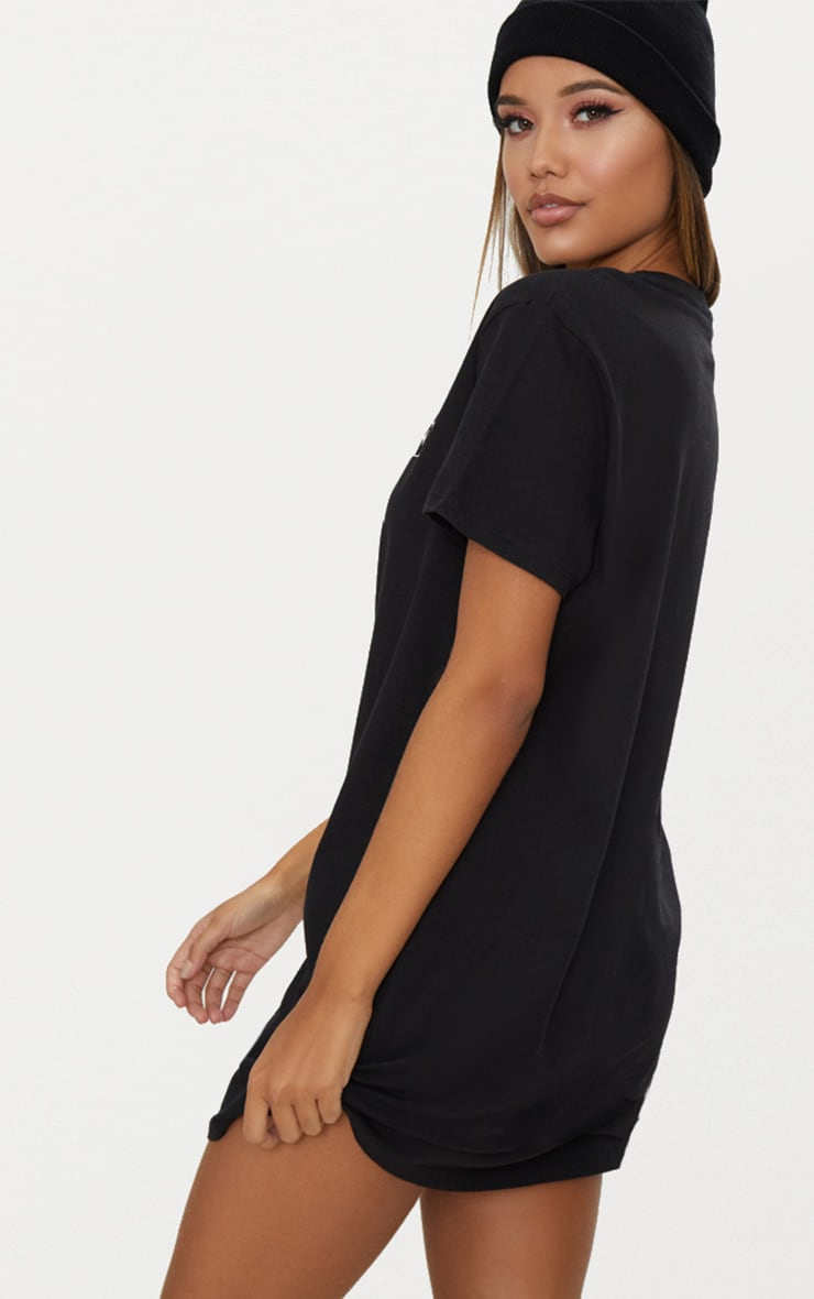 Black The Future Is Vegan T Shirt Dress 2