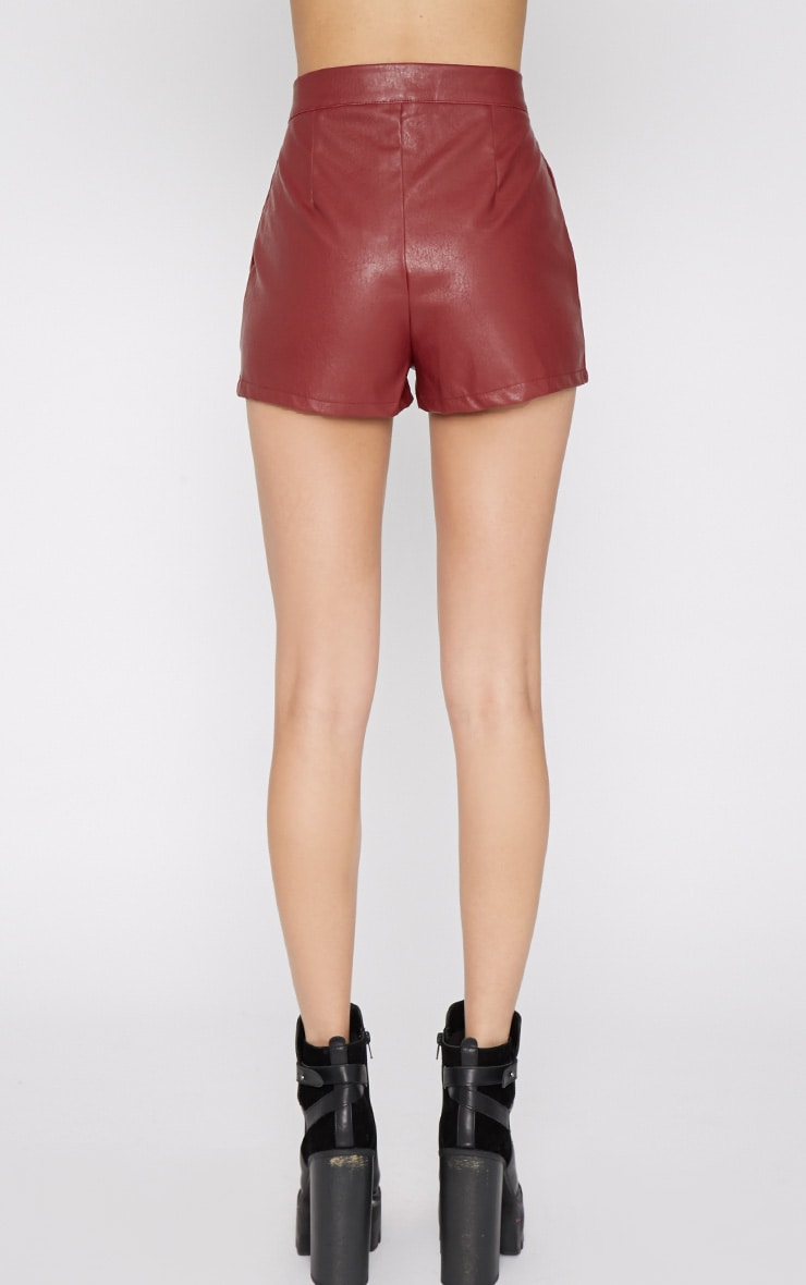 Misha Wine Leather Short 2