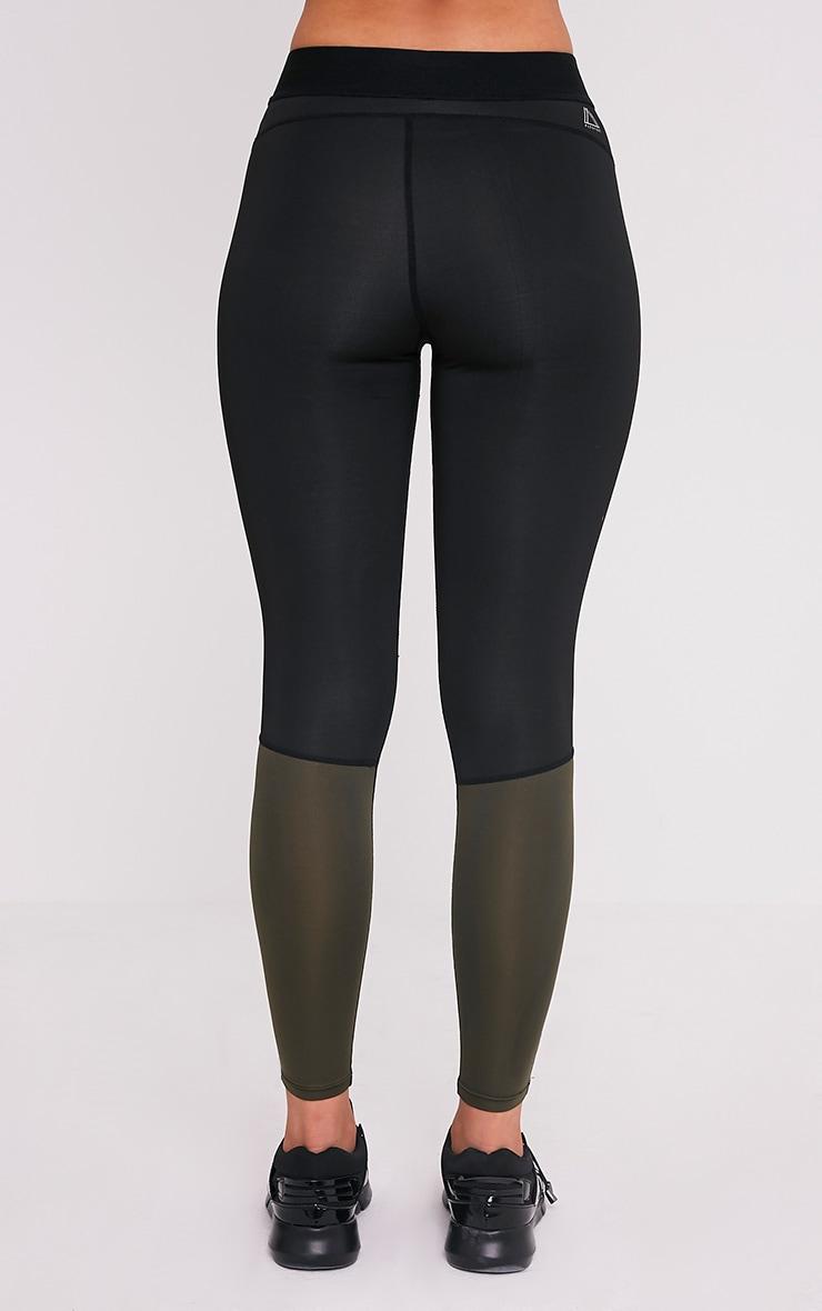 Alexis Khaki Panelled Gym Leggings 5