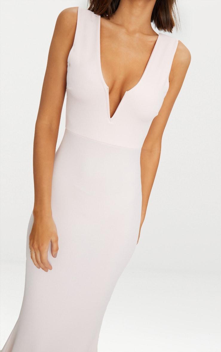 Nude V Bar Plunge Maxi Dress 6