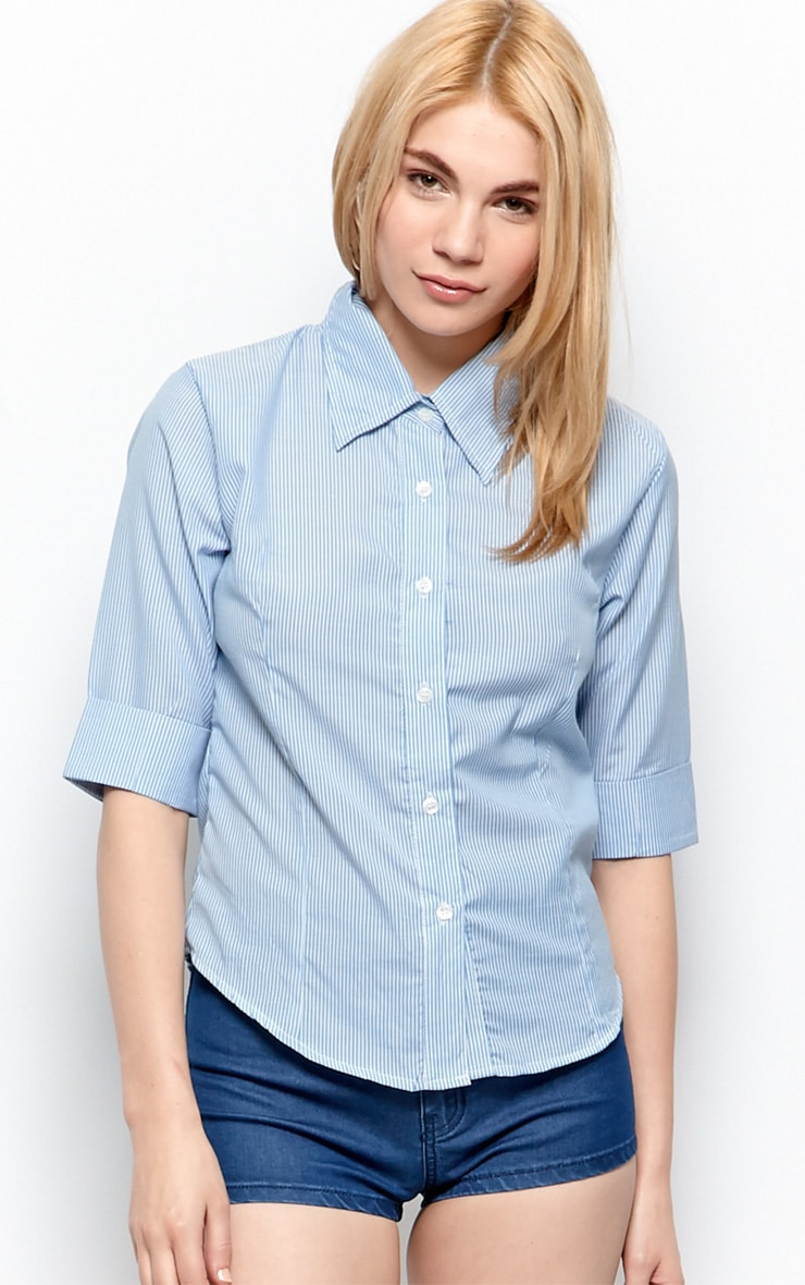 Anna Blue & White Stripey Shirt 1