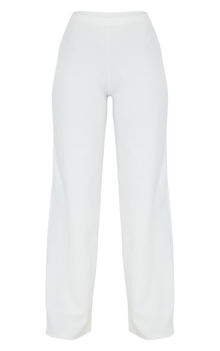 Petite White Wide Leg Pants 5