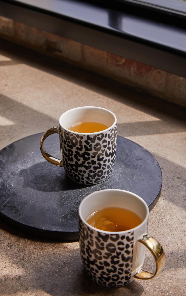 Leopard Print 2 Pack Mugs 2