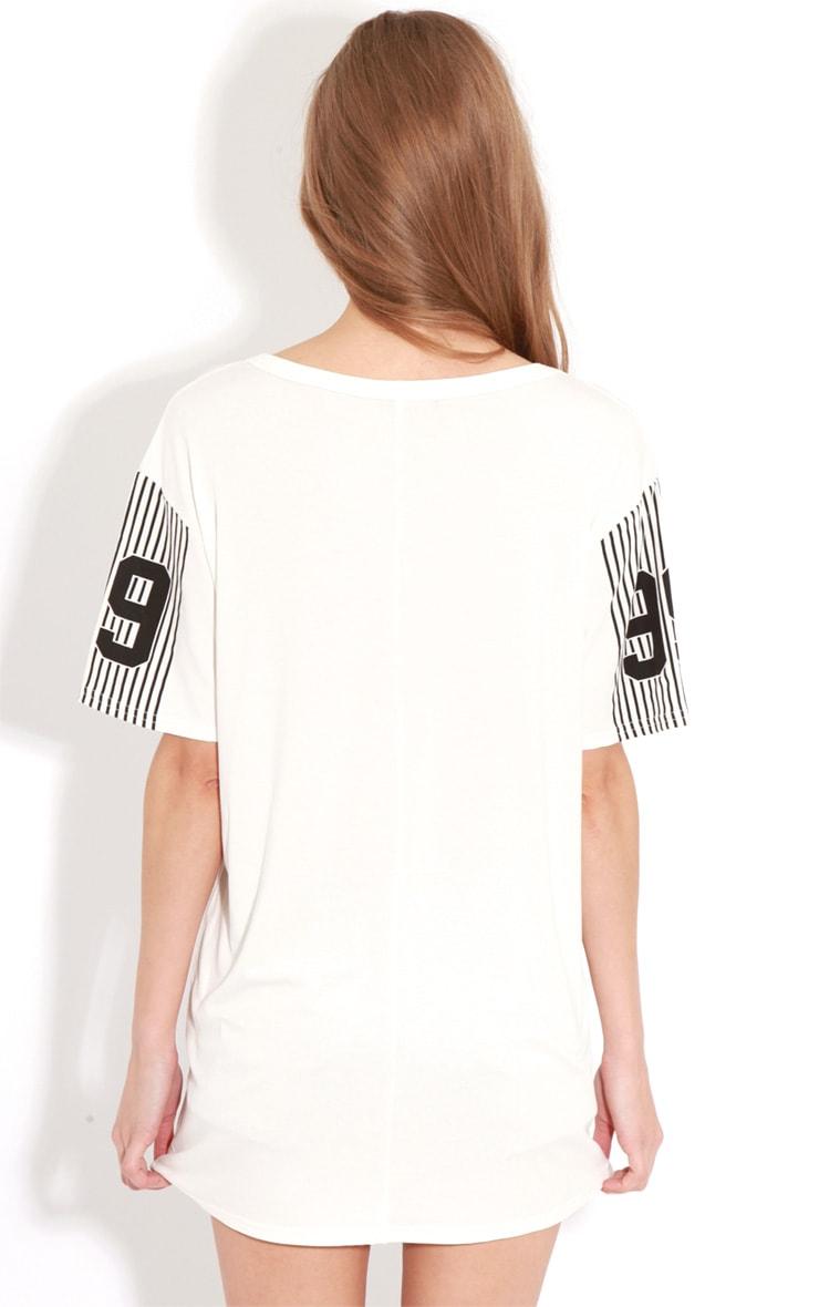 Francine White Boston Oversized T-Shirt 2