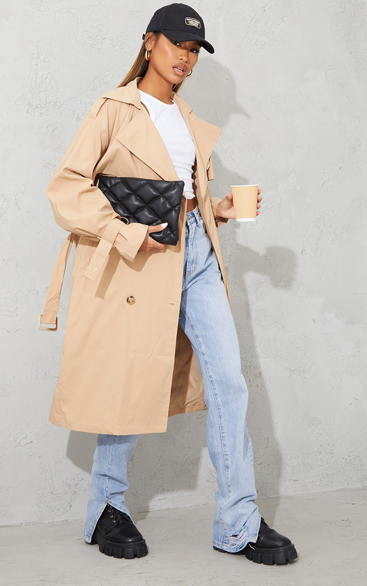 Camel Oversized Belted Midi Trench 1