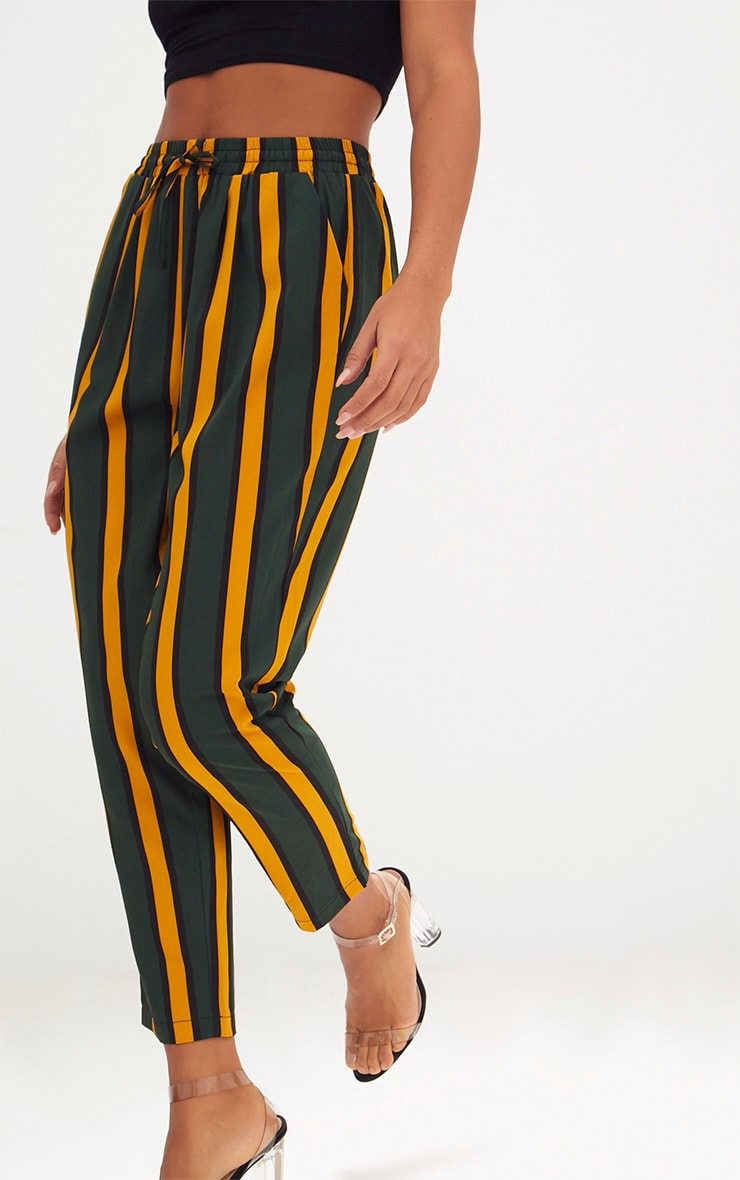 Green Stripe Casual Trousers 5