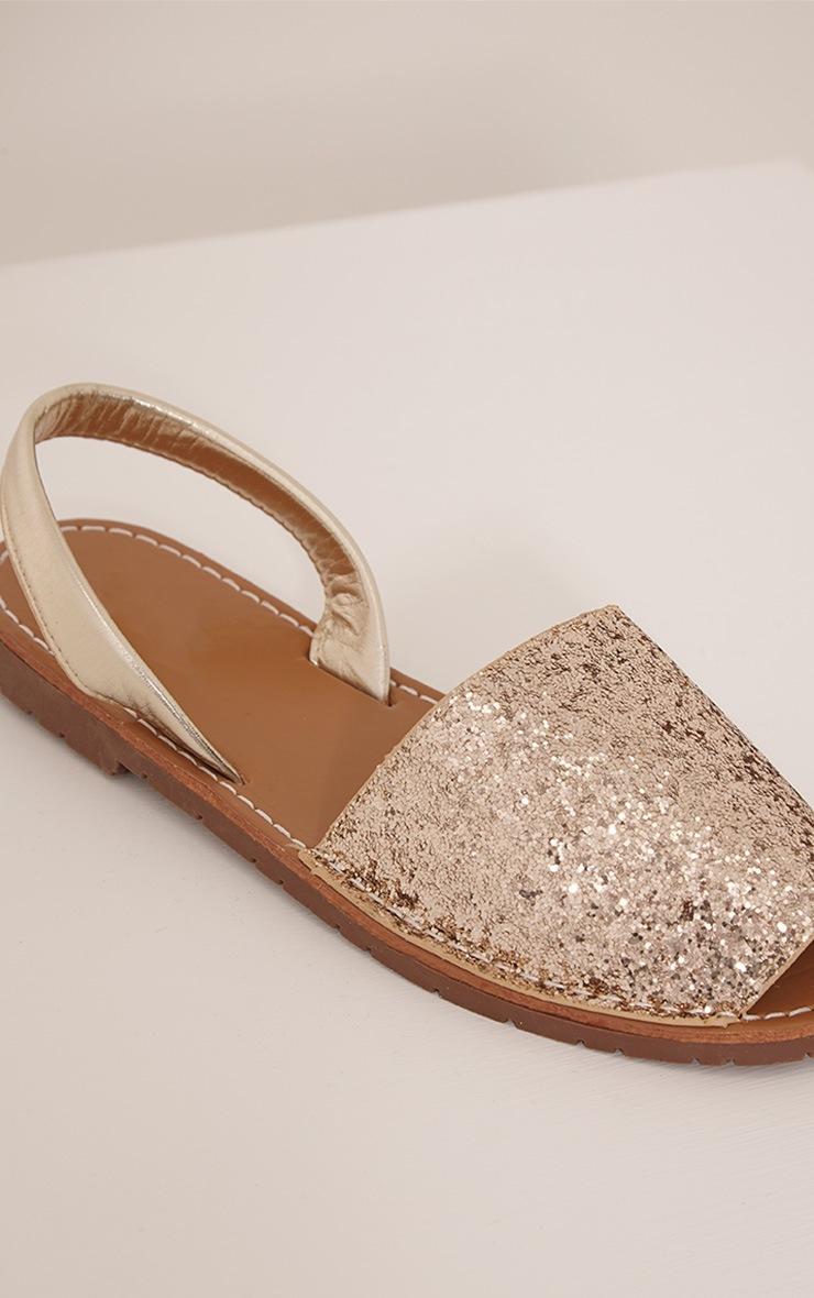 Luciana Gold Glitter Sandals 5