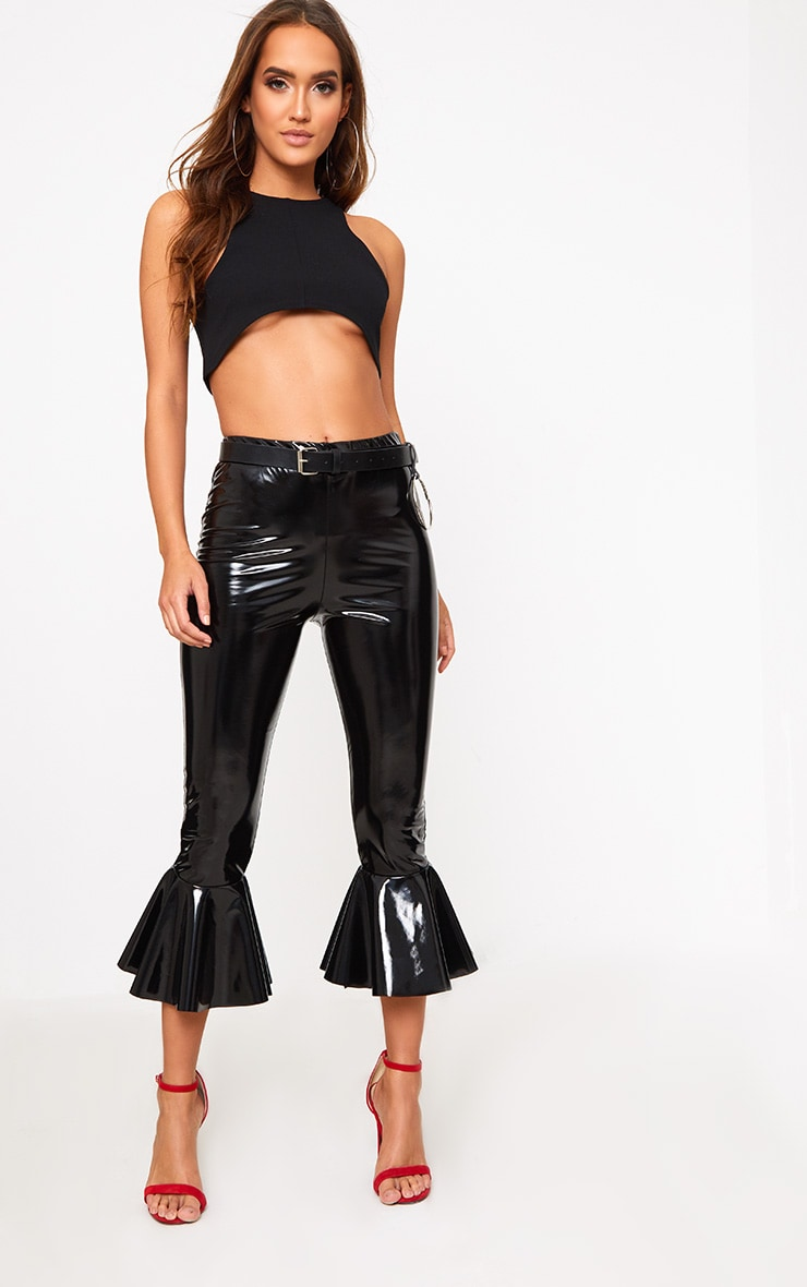 Black Underbust Crop Top  3