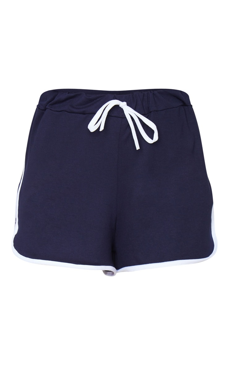 Navy Double Side Stripe Runner Shorts 6