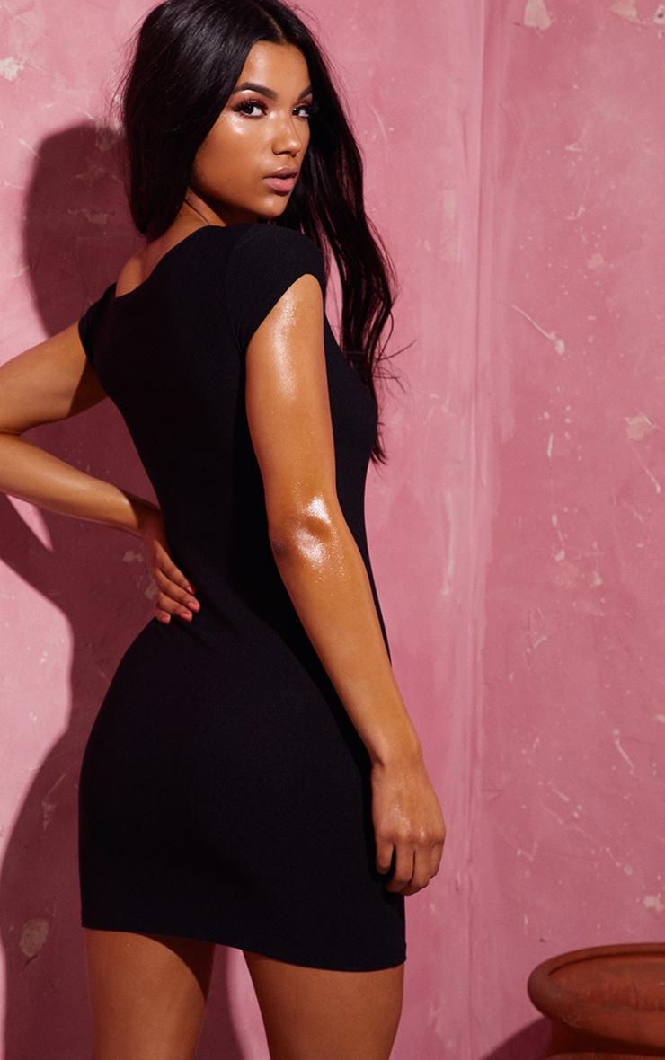 Black Off The Shoulder Bodycon Dress 2