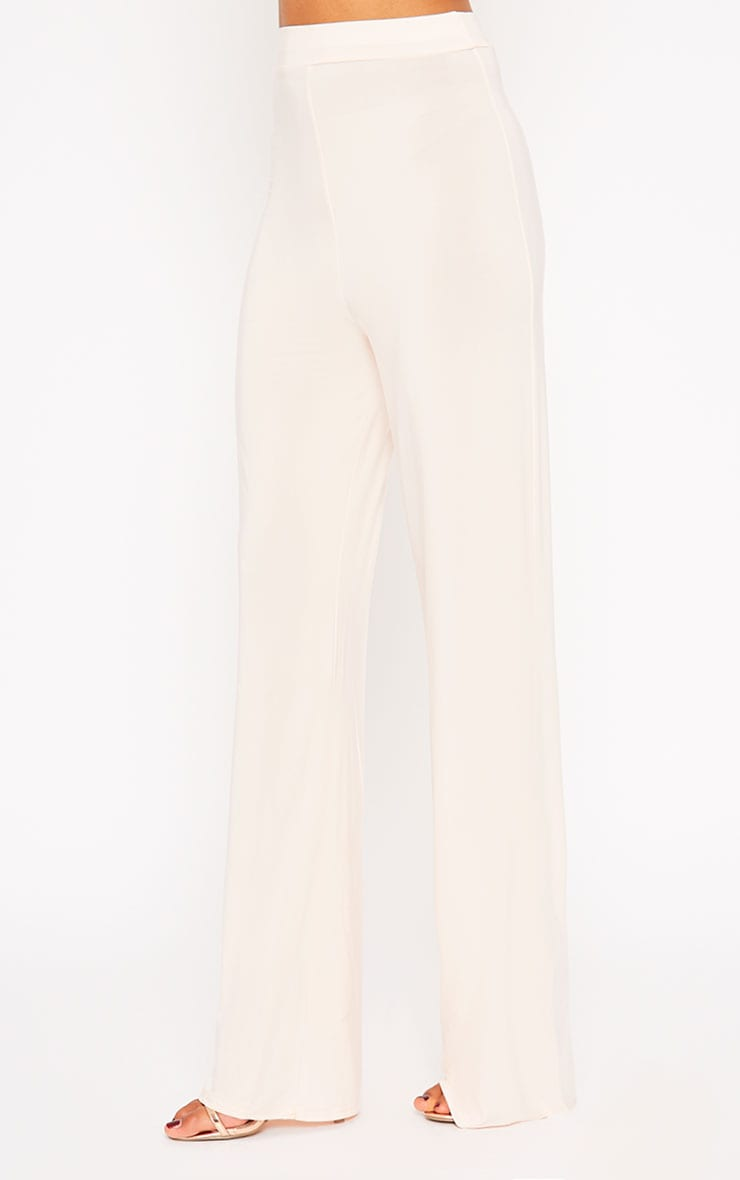 Remi Nude Soft Touch Wide Leg Trousers 3