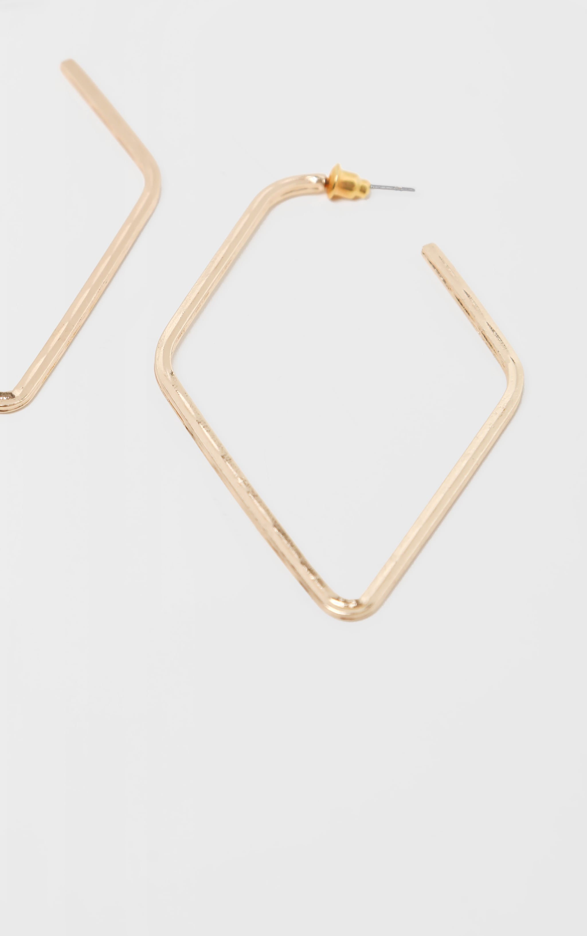 Gold Geo Hoop Earrings 3