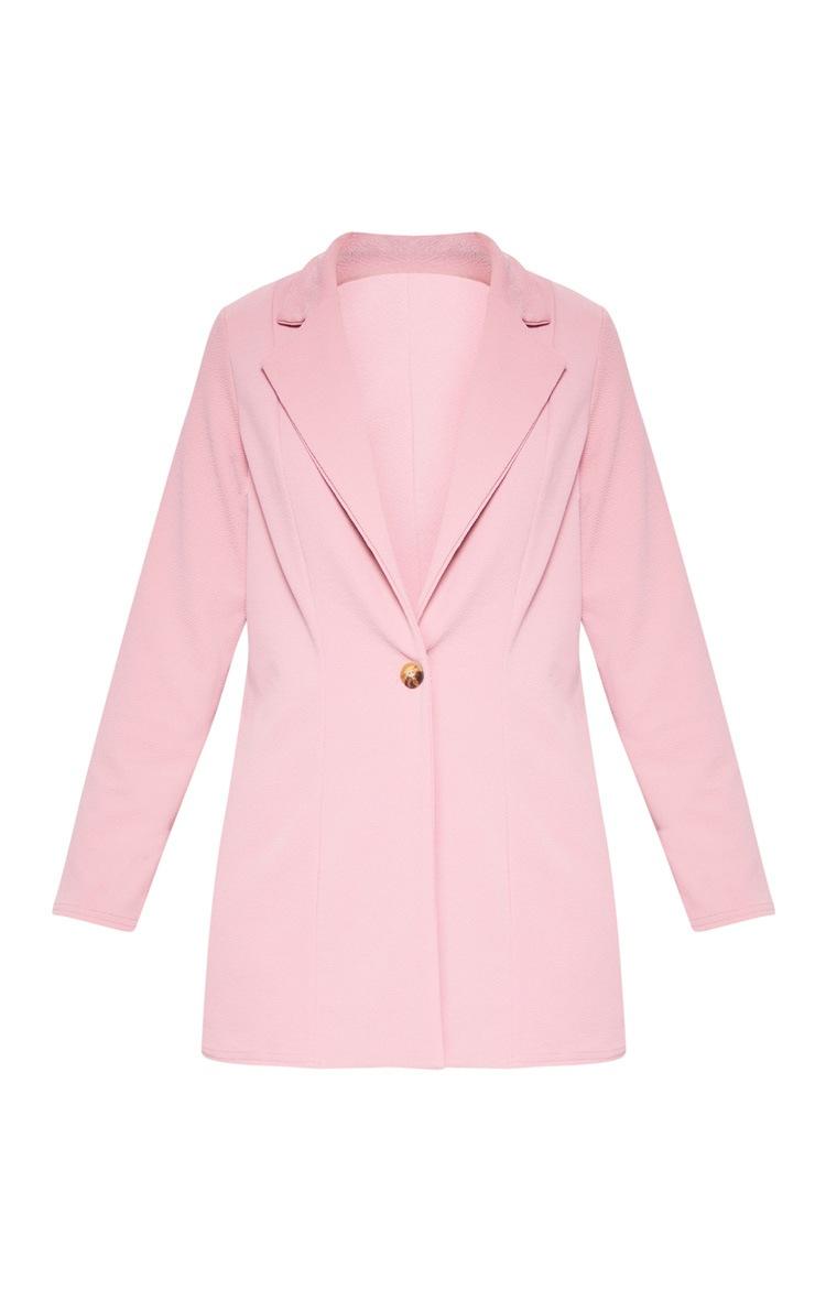 Pink Oversized Boyfriend Blazer 4