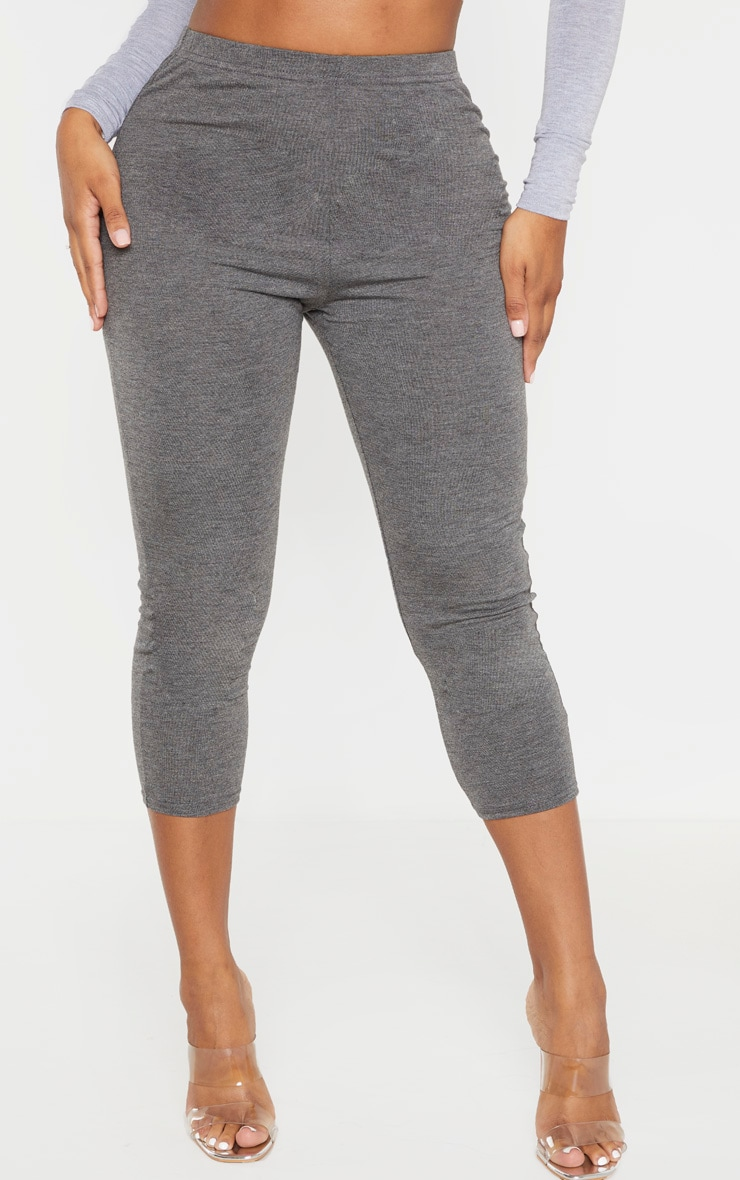 Shape Charcoal Jersey Cropped Leggings 2