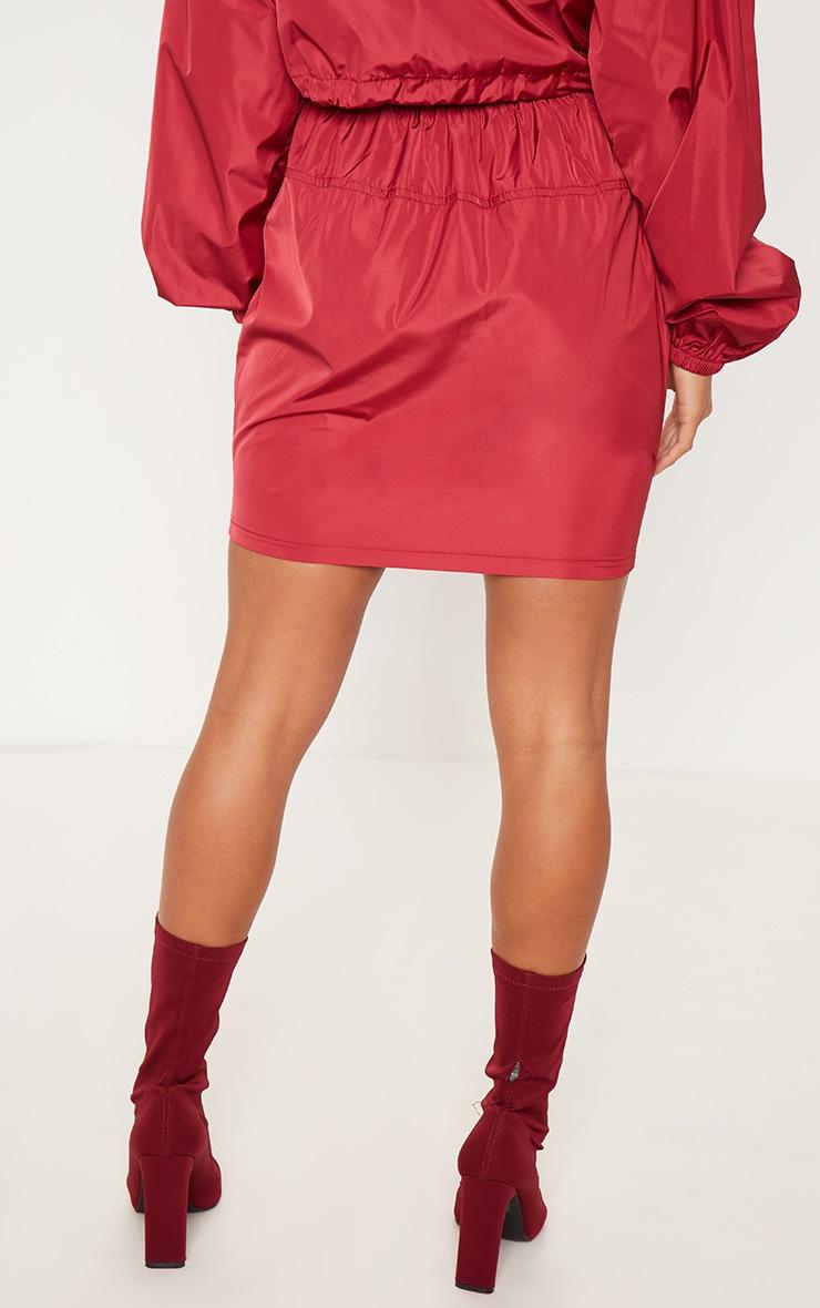 Petite Burgundy Shell Suit Mini Skirt 4