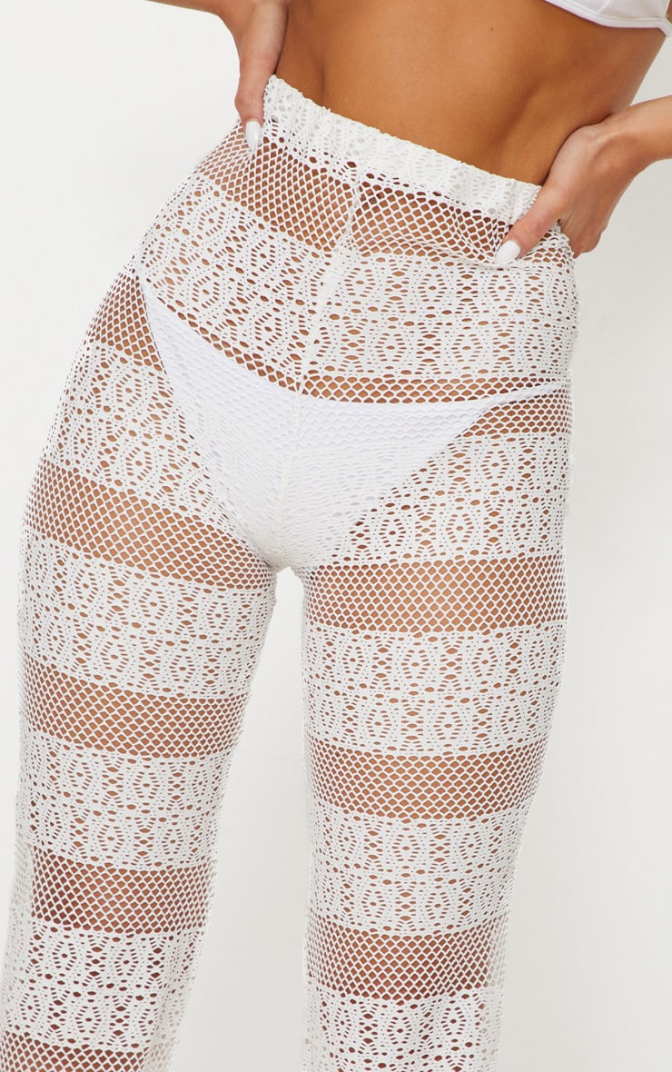 White Crochet Beach Flare 5