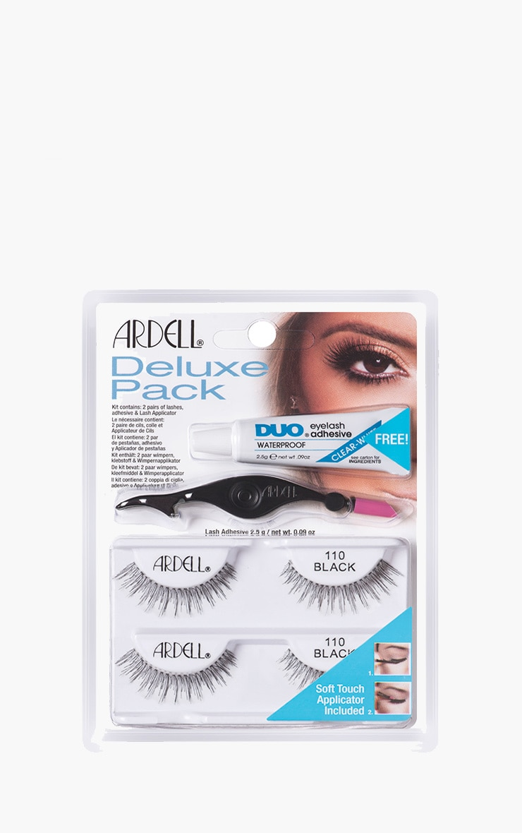 Ardell Deluxe Multipack False Eyelashes and applicator 110 1