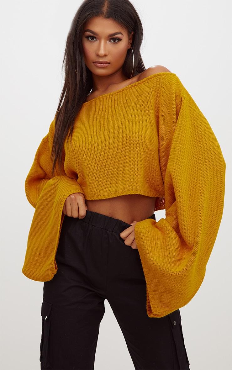 Mustard Wide Sleeve Jumper