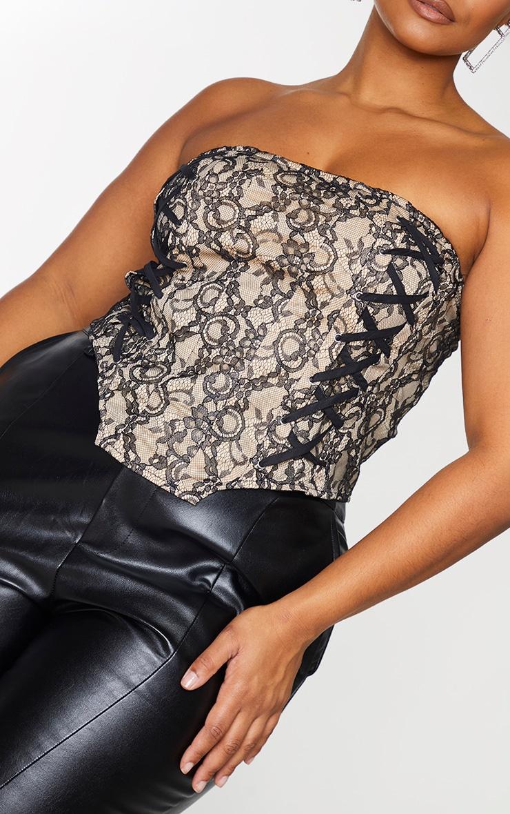 Plus Black Lace Bandeau Corset 4