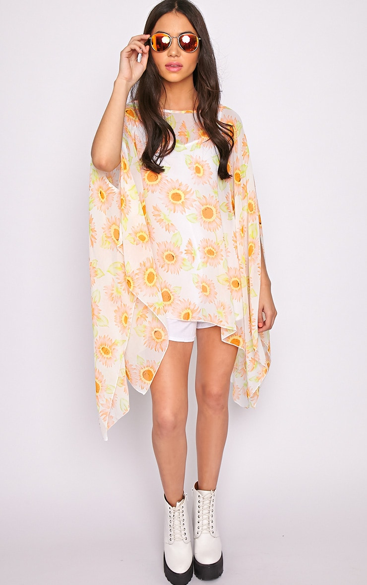 Layla Orange Flower Kaftan  1