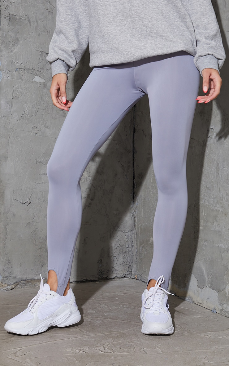Dark Grey Stirrup Gym Leggings 2