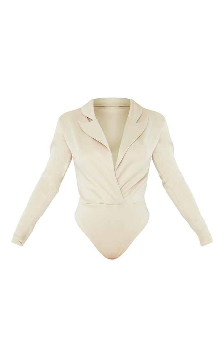 Stone Scuba Long Sleeve Blazer Bodysuit 5