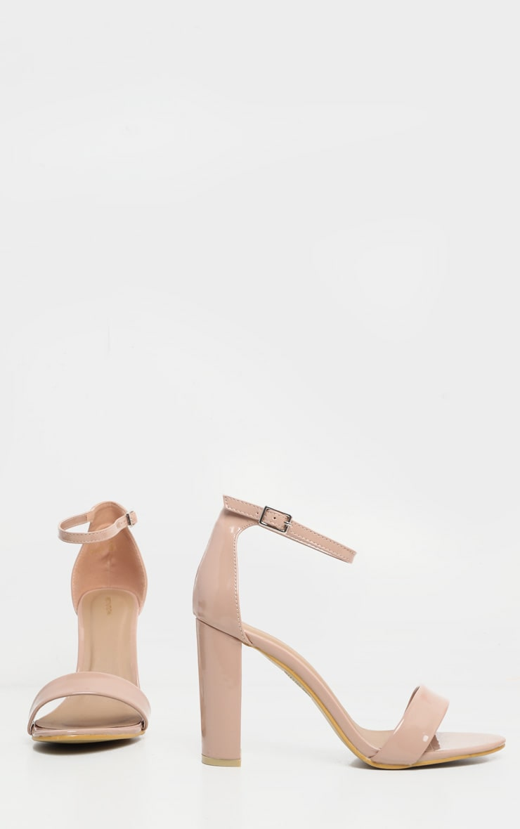May Nude Patent Block Heeled Sandals 3