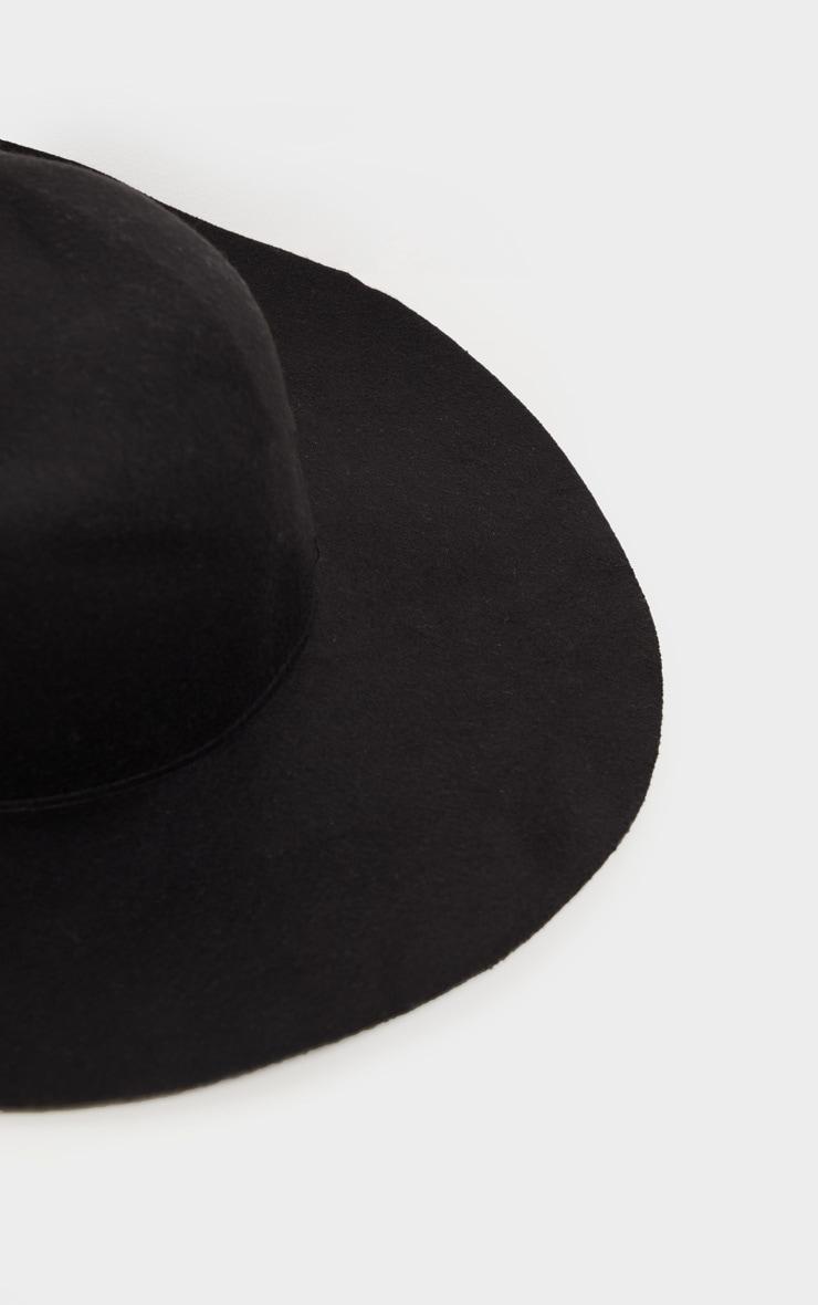 Chapeau noir à rebords mous  3