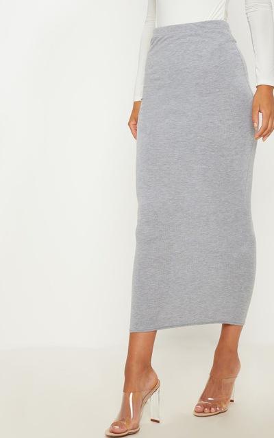 Basic Grey Midaxi Skirt
