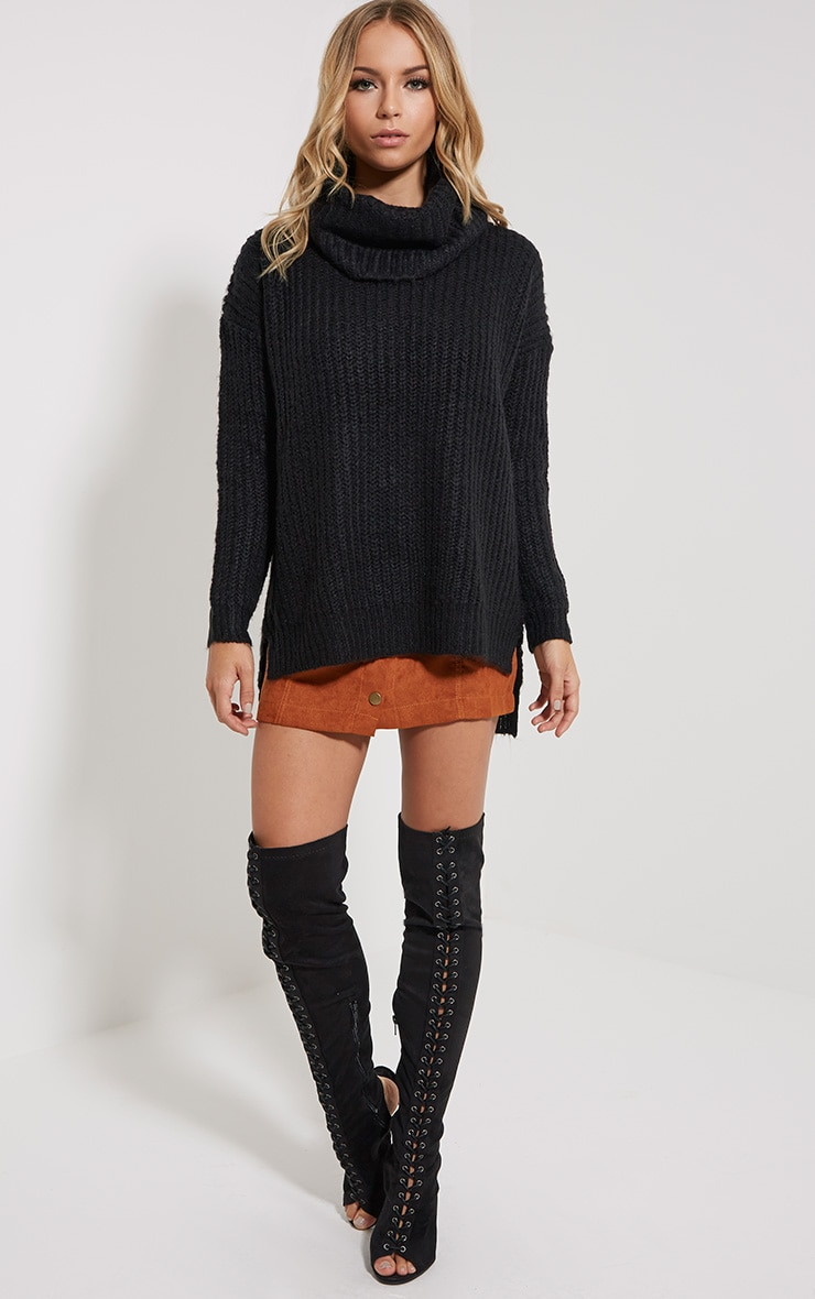Tayte Black Turtle Neck Jumper 3