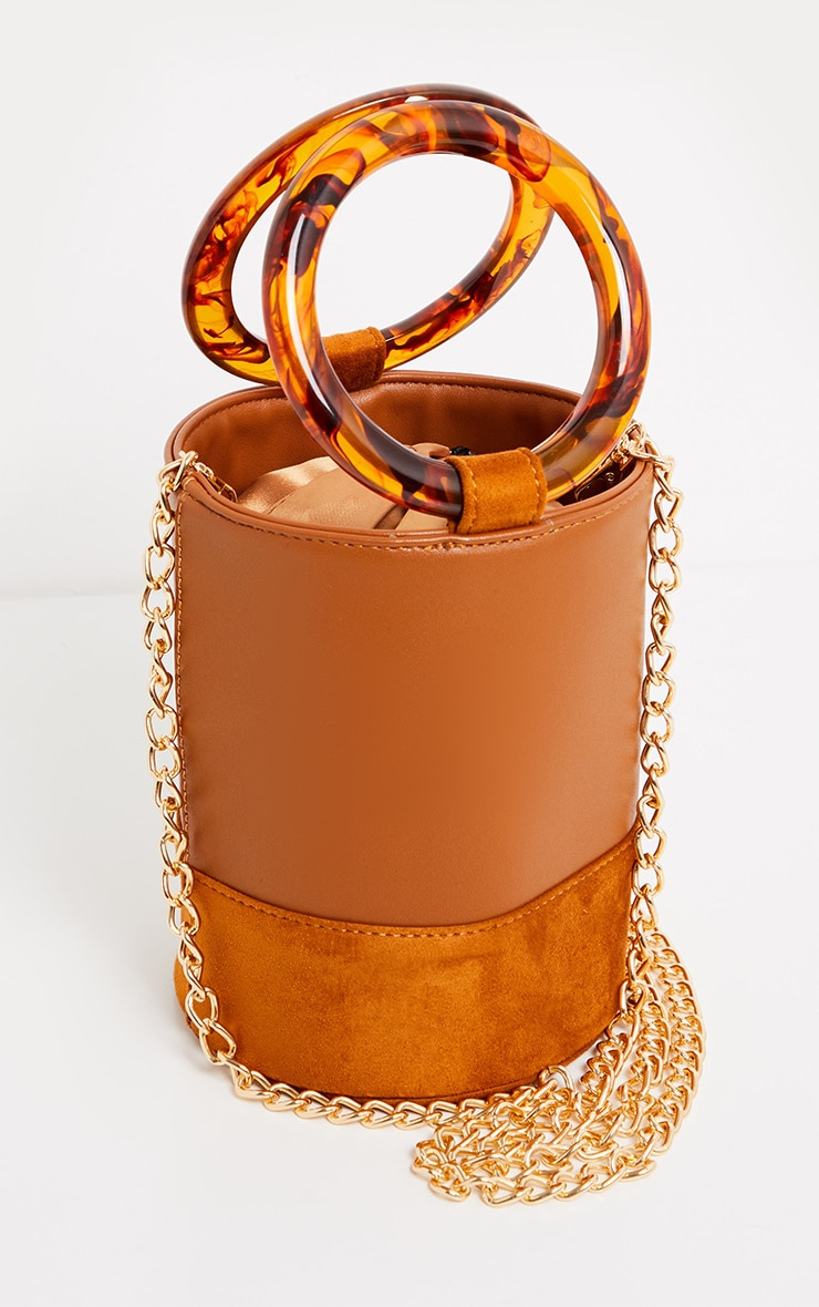 Tan Cylindrical Resin Handle Grab Bag 2