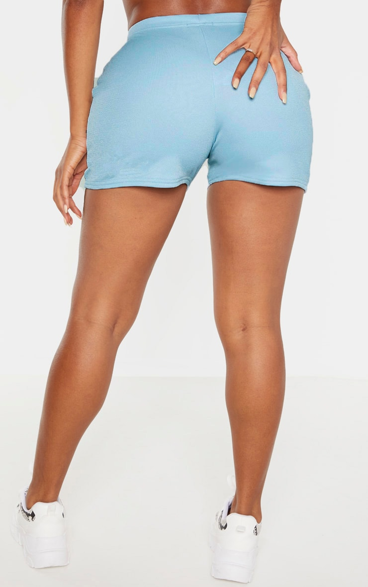 Shape Dusty Blue High Waist Hot Pants 4