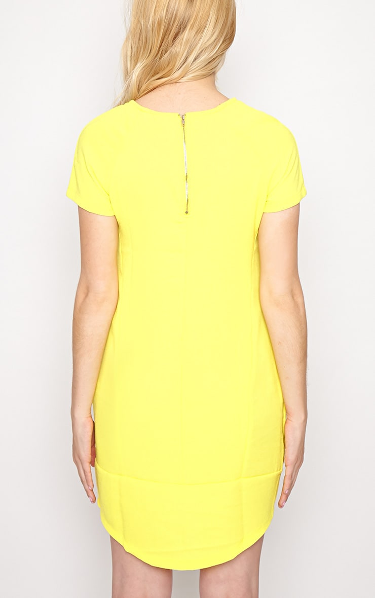 Gwyn Yellow Shift Dress 2