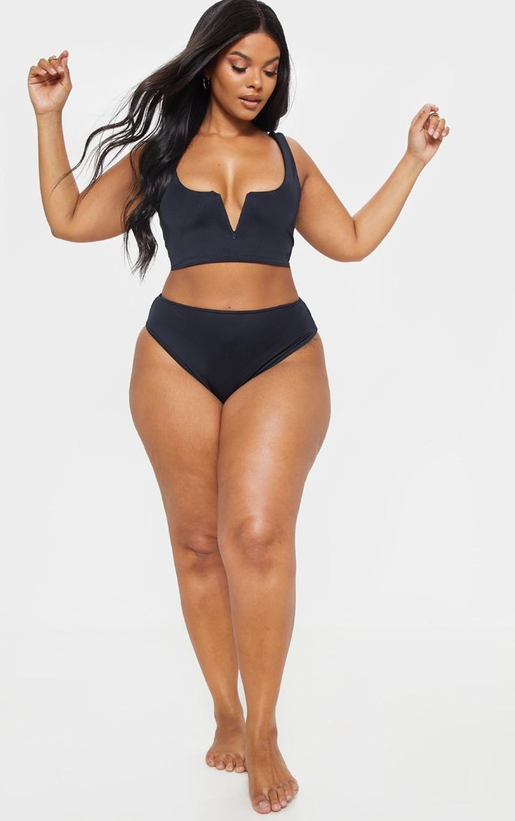 Plus Black V Bar Detail Bikini Top 5