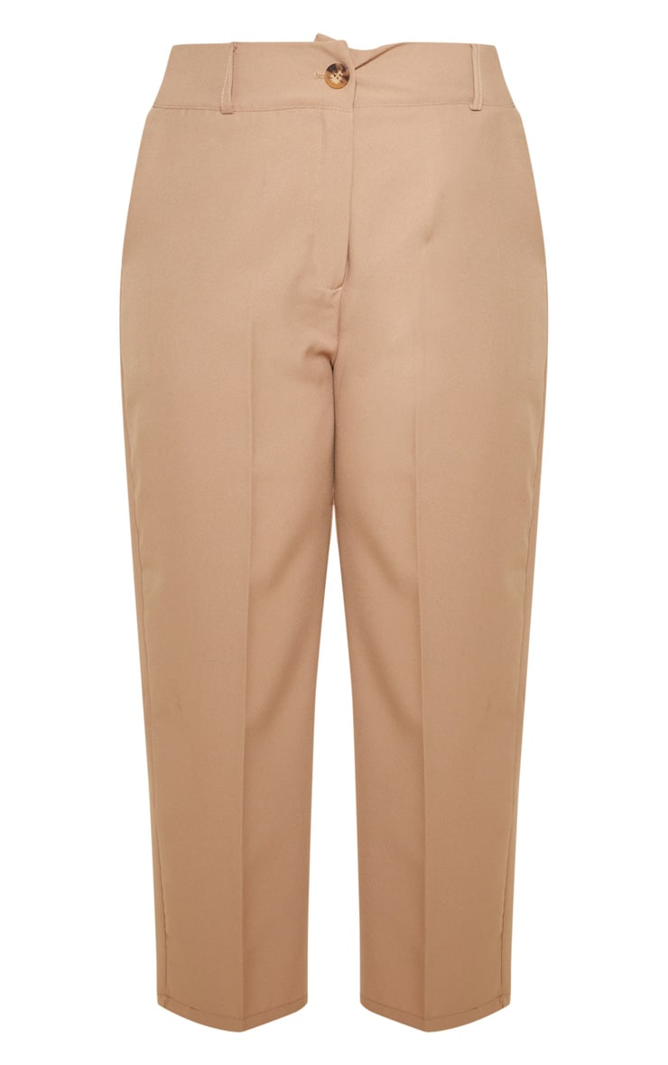 Plus Camel Woven Tapered Pants  3